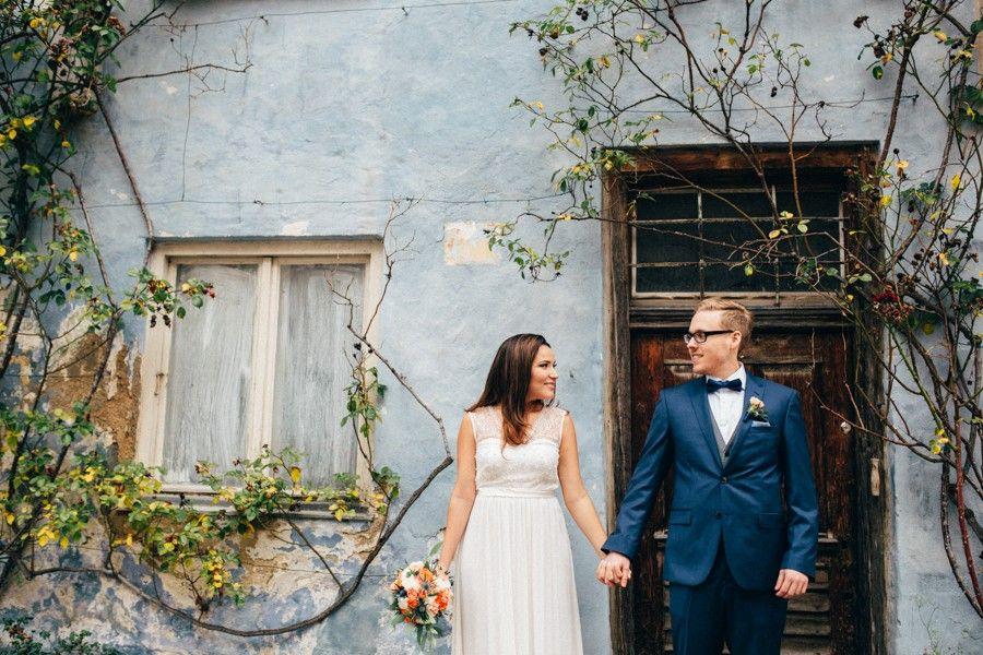 Inspiration für eine günstige Hochzeit in Orange und Blau in ...