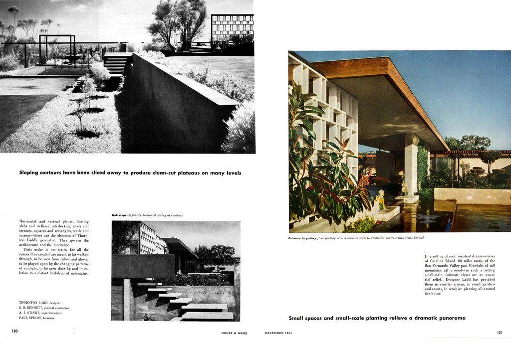Thornton Ladd Lillian B Ladd Residence Hilltop House 1085 Glen Oaks Blvd Pasadena Ca 1951 Page 2 Of 6 Arch House Glen Oaks Pasadena