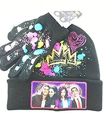 new concept 15af9 e5bc2 Descendants Youth Beanie Hat and Gloves Set (BLACK). One size , fit most