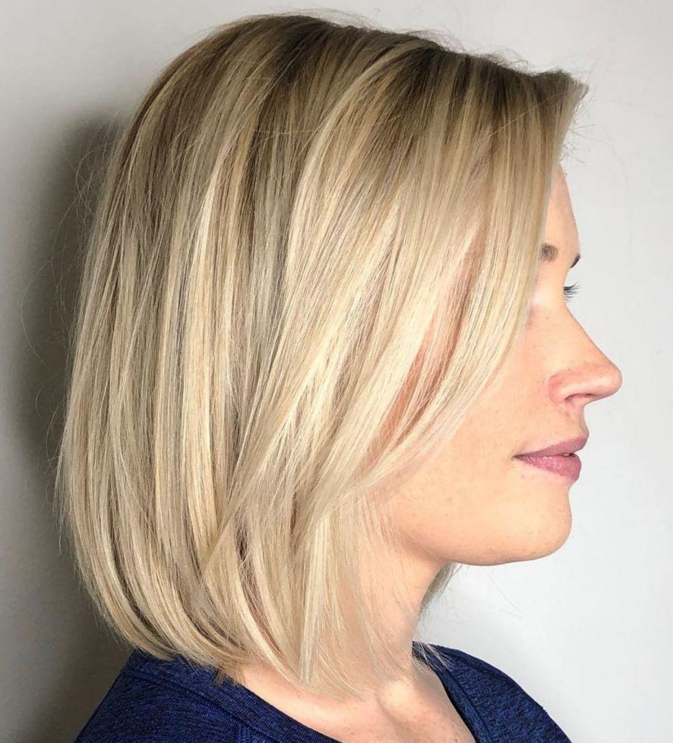 70 Perfect Medium Length Hairstyles For Thin Hair Medium Hair Styles Medium Blonde Bob Thin Hair Haircuts