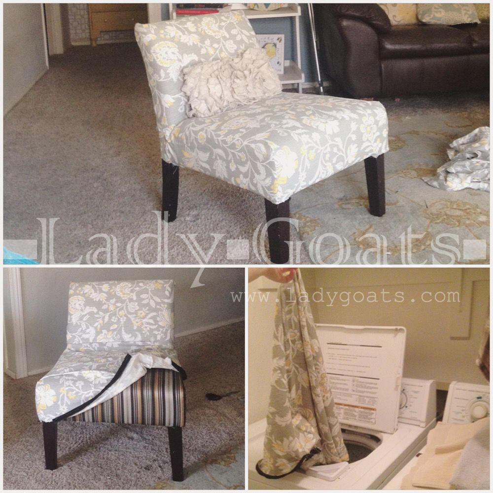 DIY Slipper Chair Slipcover Without a Template