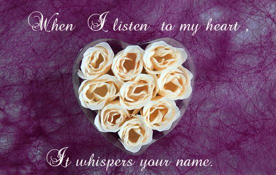 Whisper your name..
