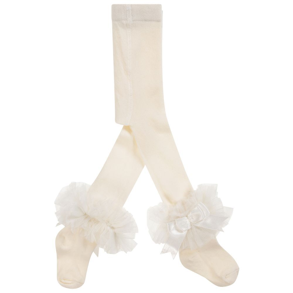 794b9e23da4ac2 Girls Ivory Cotton Tights for Girl by Beau KiD. Discover more beautiful  designer Tights for kids online