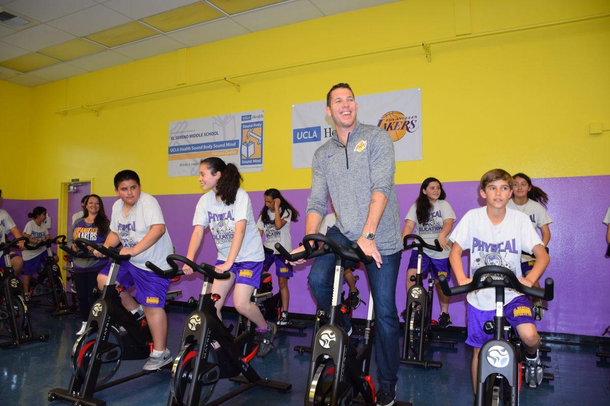 Lakers coach luke walton and ucla health team up to help