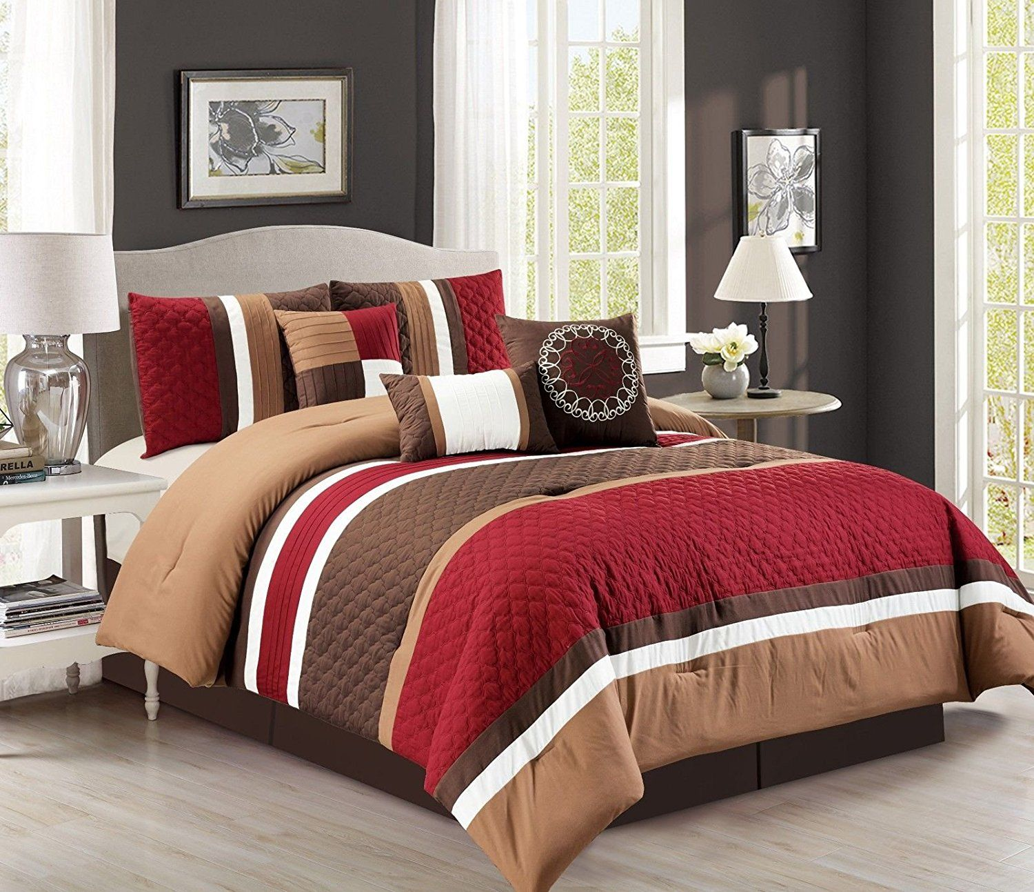 comforter ashley info flower yakunina and amberley chezmoi laura set black sets white quilt amazoncom king home