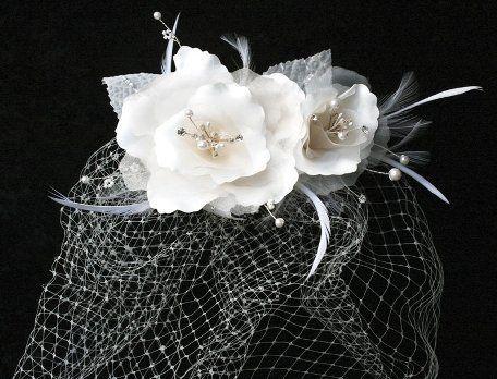 En Vogue VF105 Floral Bridal Veil - Cage Veil - Birdcage Veil (Ivory) Advantage Bridal http://www.amazon.com/dp/B00H0J8OTI/ref=cm_sw_r_pi_dp_z3hjvb1V4ZXFN