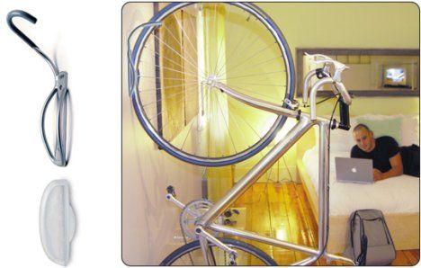 10 Ways To Hang Your Bike On The Wall Like A Work Of Art Bike Storage Wall Mount Bike Rack Bike Storage Hooks