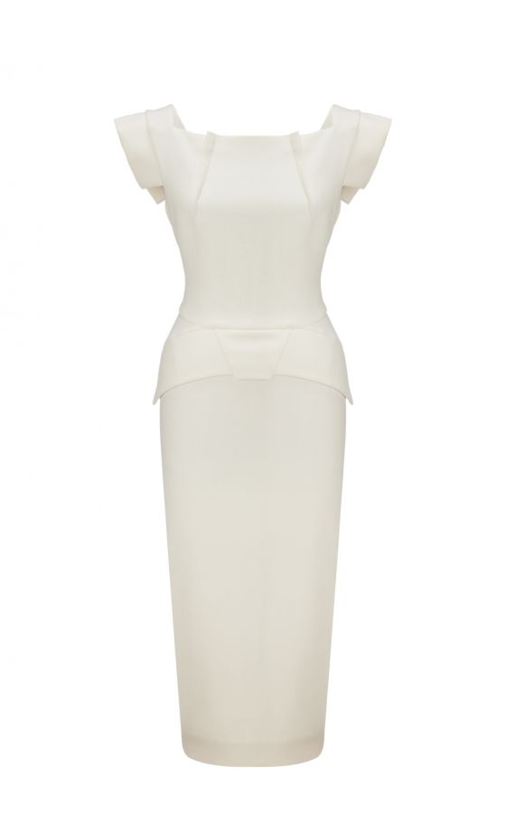 Roland Mouret Pigalle Dress in White