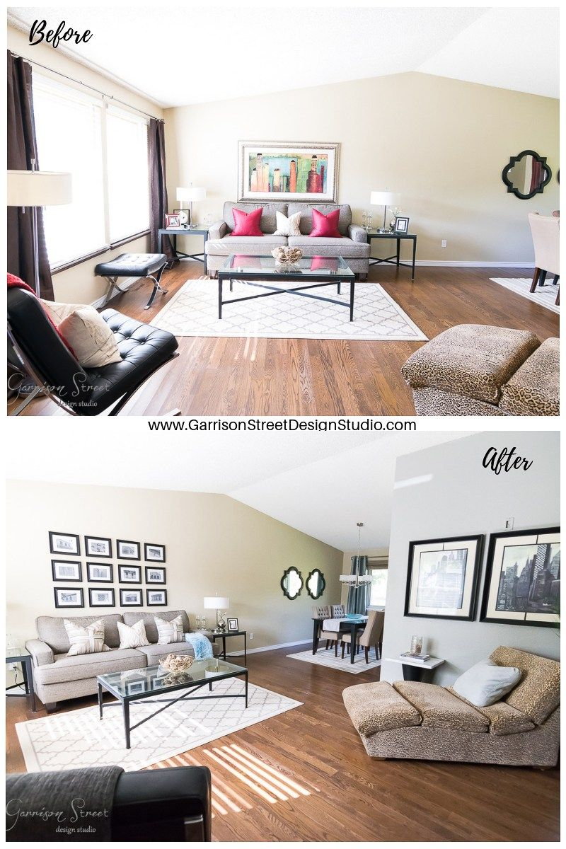 Pin On Garrison Street That 70s House #small #living #room #makeover #before #and #after