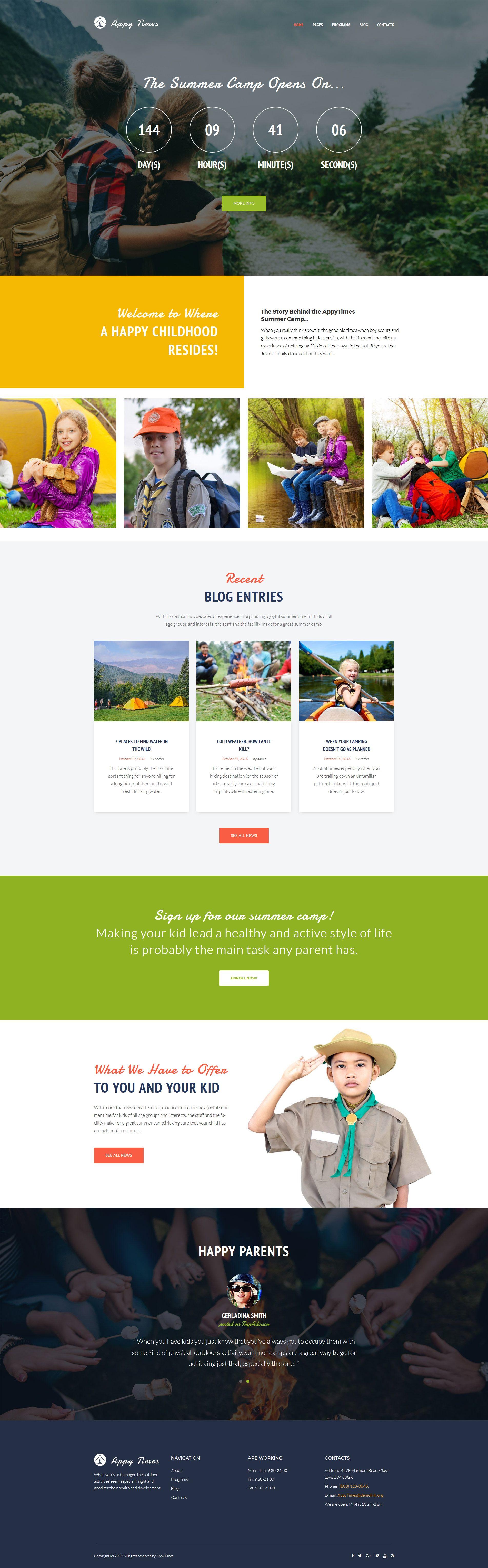 AppyTimes - Summer Camp WordPress Theme