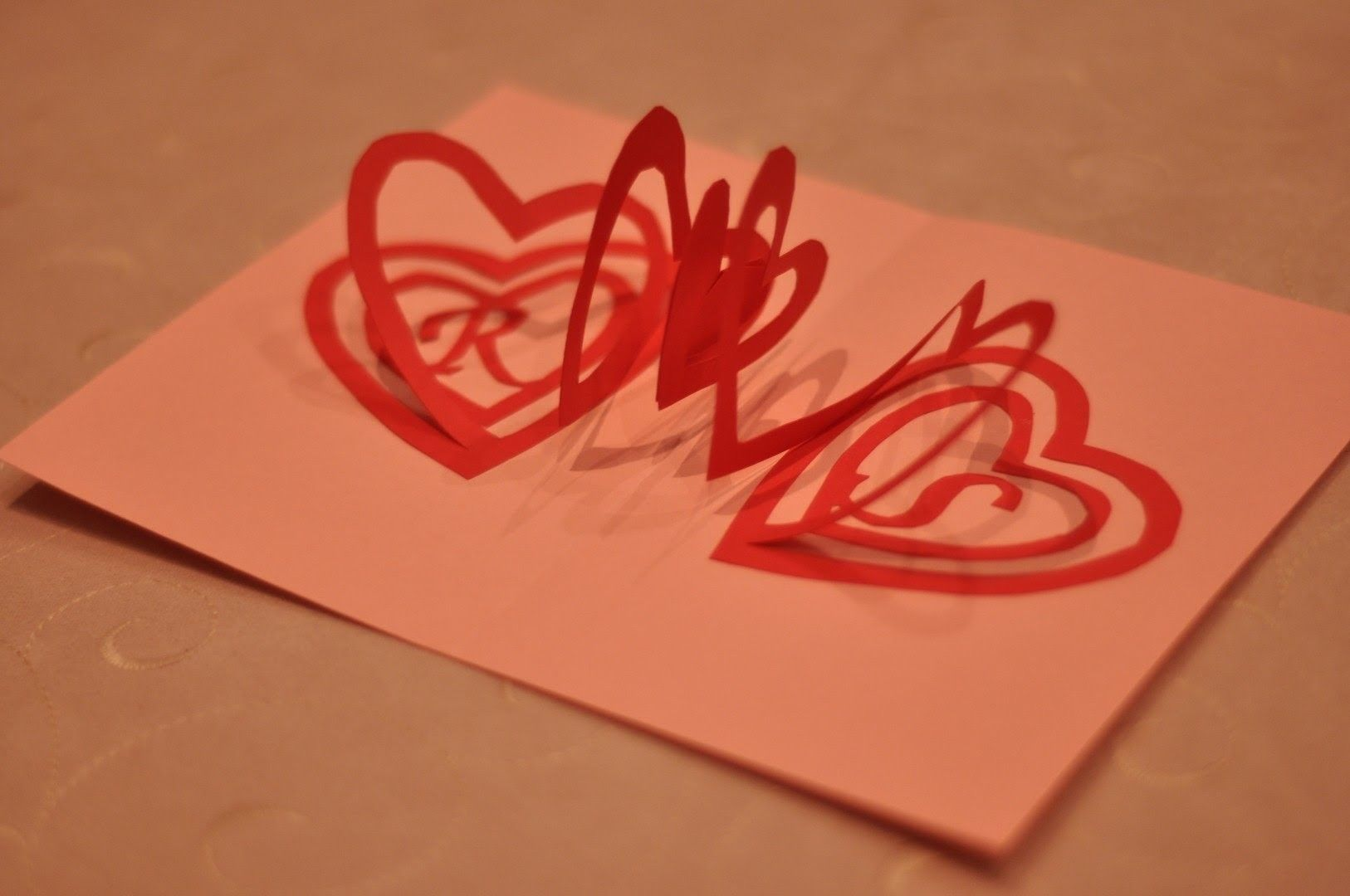 How To Make A Valentine S Day Pop Up Card Spiral Heart Heart Pop Up Card Pop Up Valentine Cards Pop Up Card Templates