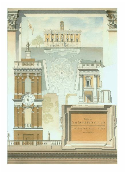 Analytique Architecture Painting Architecture Landmark Architecture Drawings