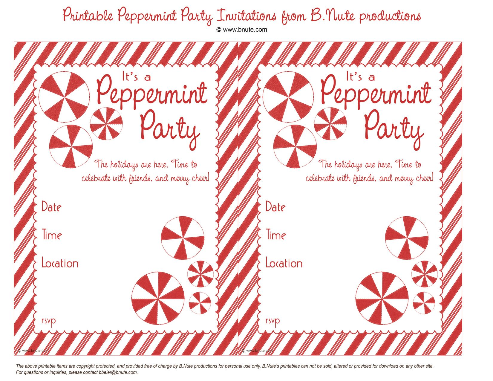 online christmas party invitations free