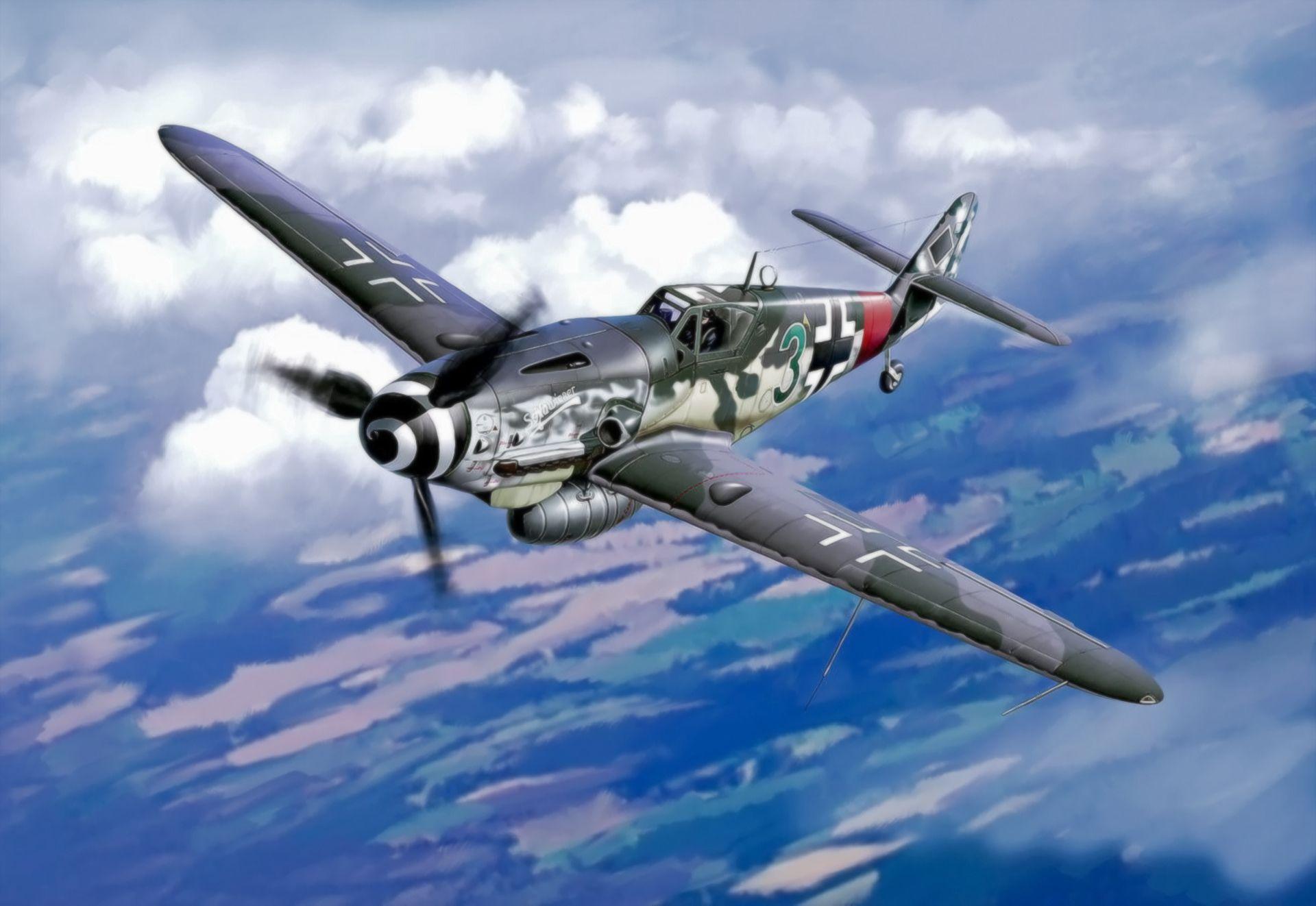 Обои Bf 109 k4, war, painting, german fighter, ww2, aviation. Авиация foto 10