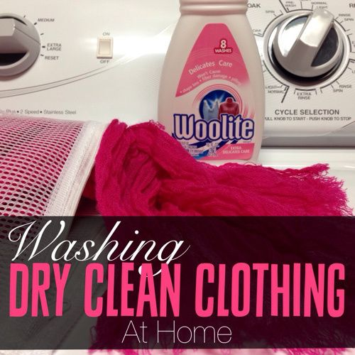 how to wash dry clean clothes at home