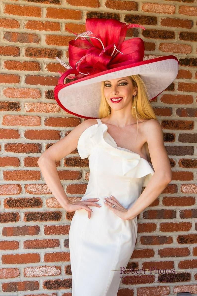 Last One Large Hat Kentucky Derby Hat Derby Hat Designer Etsy In 2021 Derby Attire Derby Dress Derby Outfits