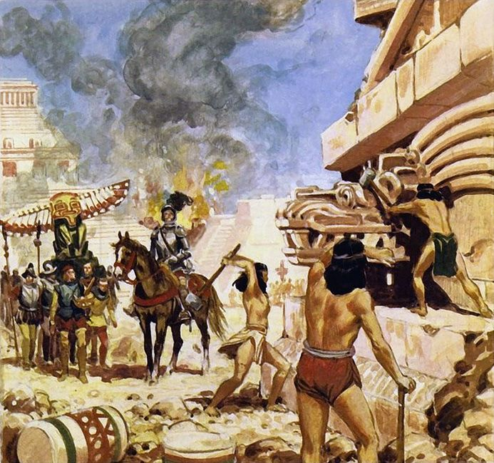 """defeating the aztec empire Aztec, self name culhua-mexica, nahuatl-speaking people who in the 15th and early 16th centuries ruled a large empire in what is now central and southern mexico the aztecs are so called from aztlán (""""white land""""), an allusion to their origins, probably in northern mexico."""