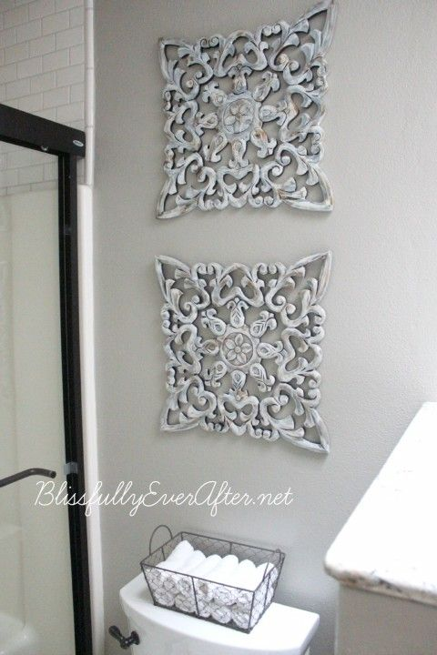bathroom wall decorating ideas. We\u0027re Sharing Our Master Bathroom Resource List With All The Details Of  What And Where We Purchased Items For New Space. A True DIY Project On A Budget! Bathroom Wall Decorating Ideas M