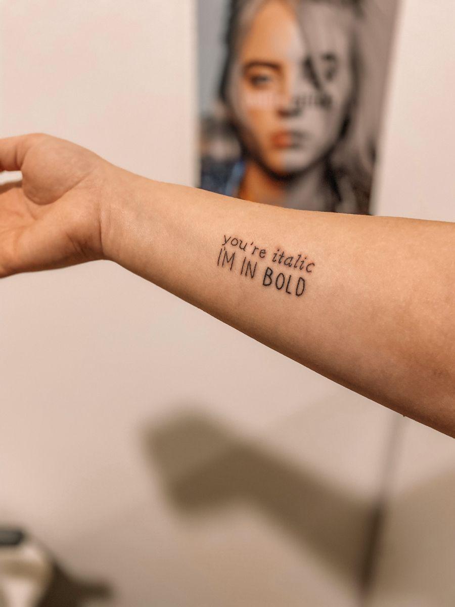 Billie Eilish Tattoo Weird Tattoos Mother Tattoos Classy Tattoos
