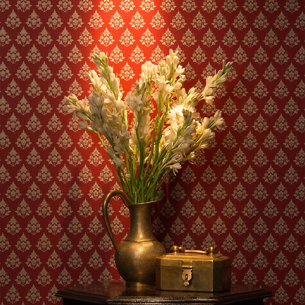 Designer Wallpaper By Sabyasachi Is Rich And Layered As The Muse That Inspires Them The Vast And Varied T Wall Texture Design Asian Paints Wall Paint Designs