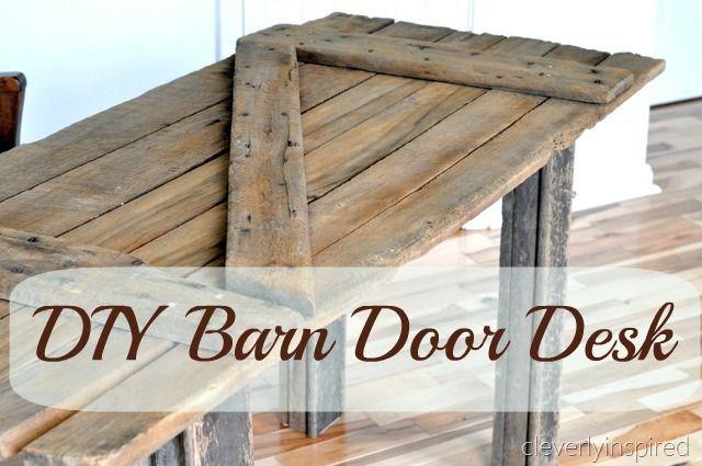 Diy Barn Door Desk Old Barn Doors Diy Barn Door Door Desk