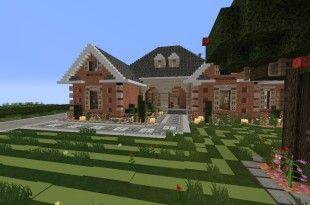 Large Suburban House Minecraft Building Amazing Idea