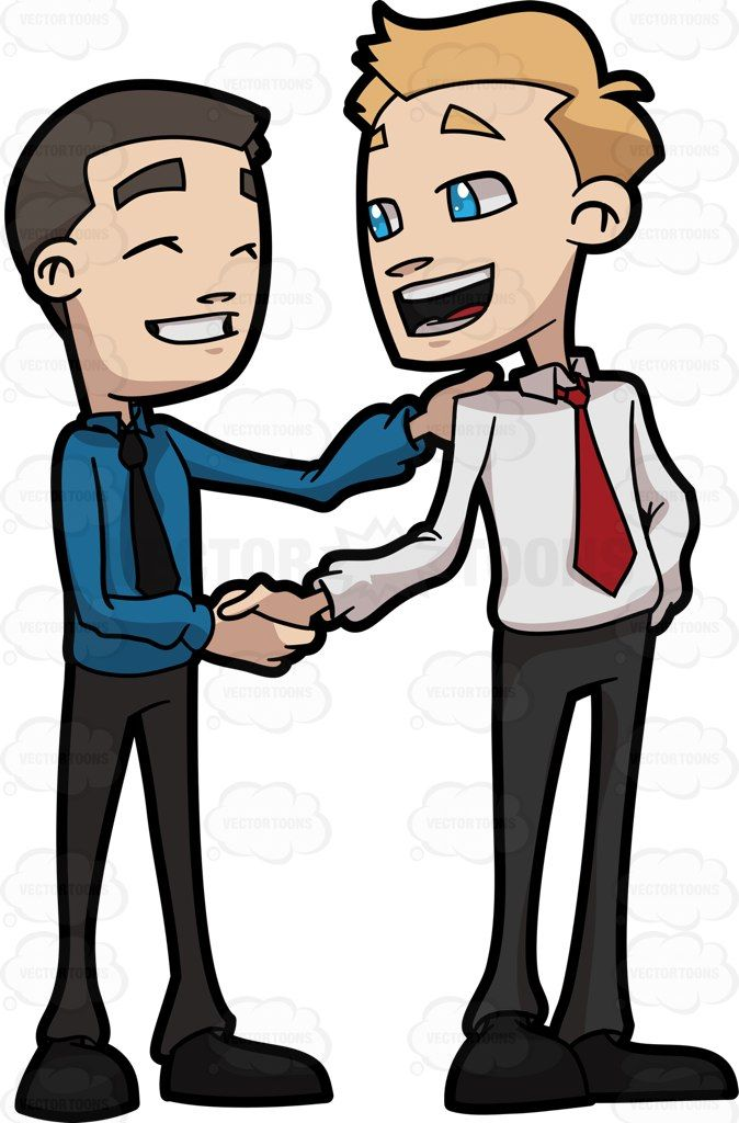 Two Business Friends Shaking The Hand Of Each Other | Products ...