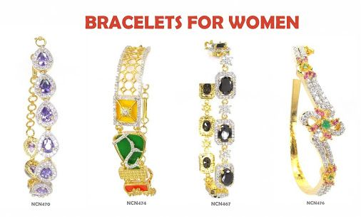 New Arrivals of Bracelets for Women! Prices starting at Rs.800 Shop Online: http://goo.gl/ff8F2T ‪ #braceletsforwomen #NalluCollection