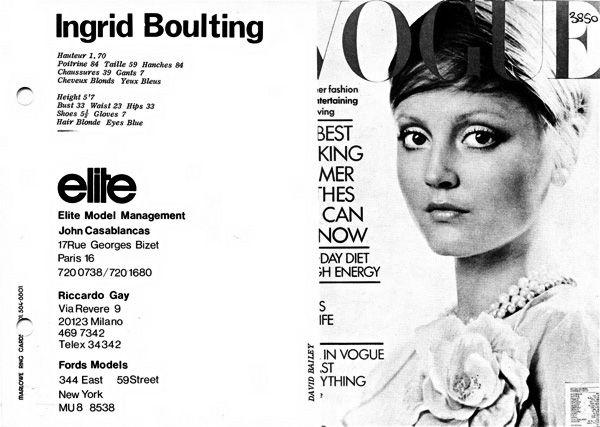 The Model Archives of Marlowe Press   Elite Model Management (Paris)1972