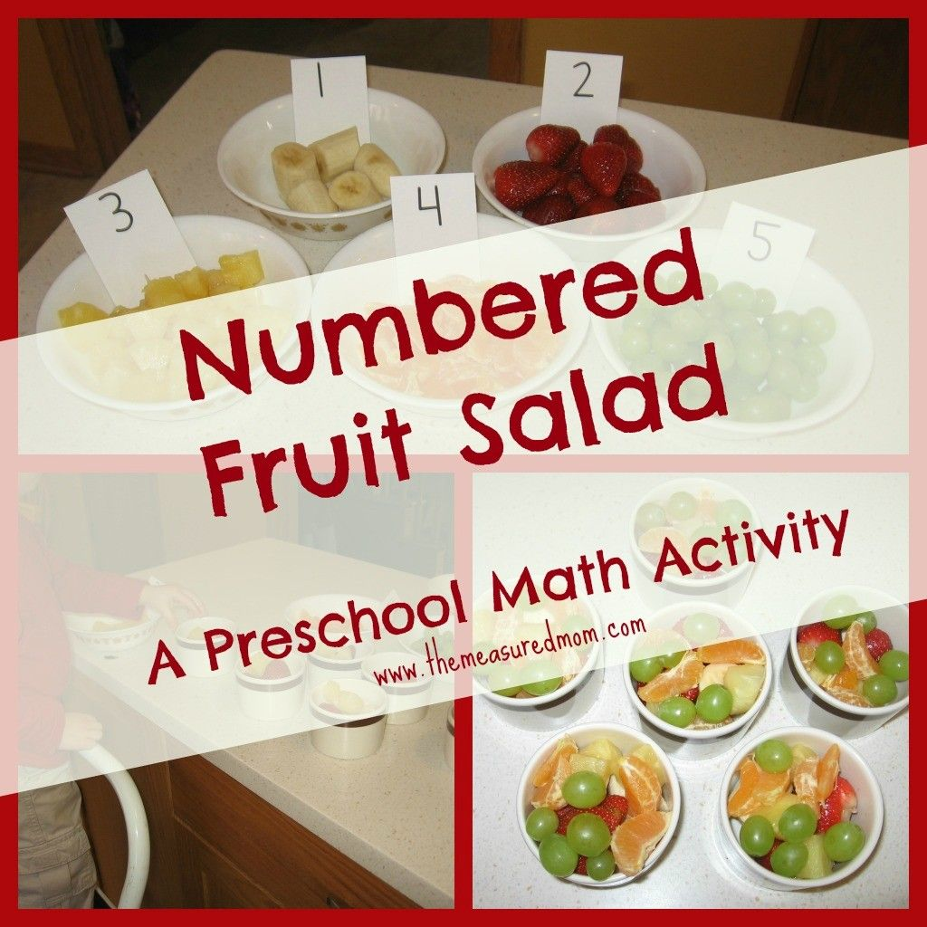 Food And Activities: Teach Counting With A Numbered Fruit Salad
