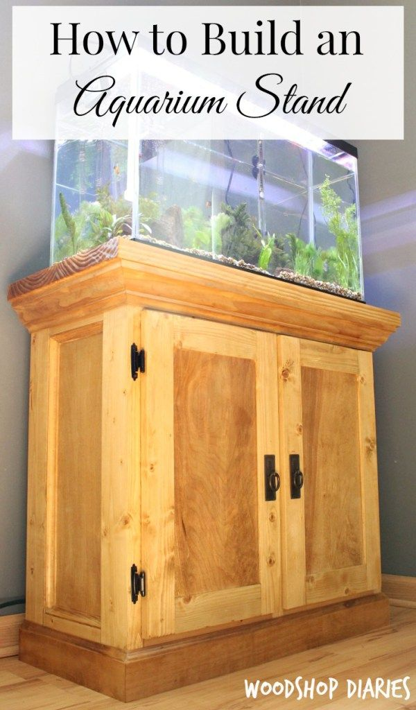 How To Build An Aquarium Cabinet Stand Free Building Plans Easel Woodworking Plans Aquarium Cabinet Woodworking Stand