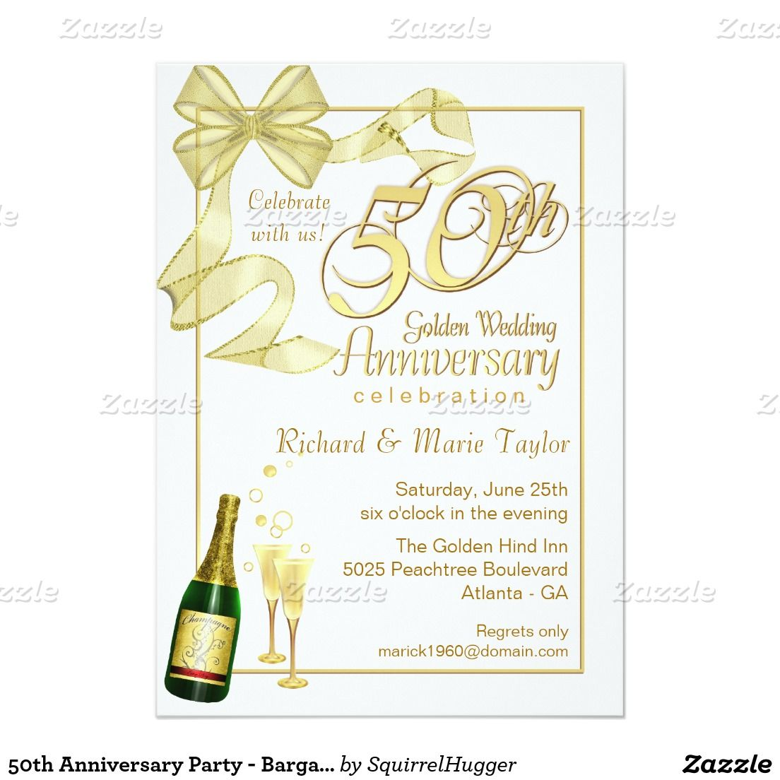 50th Anniversary Party - Bargain Invitations 5\