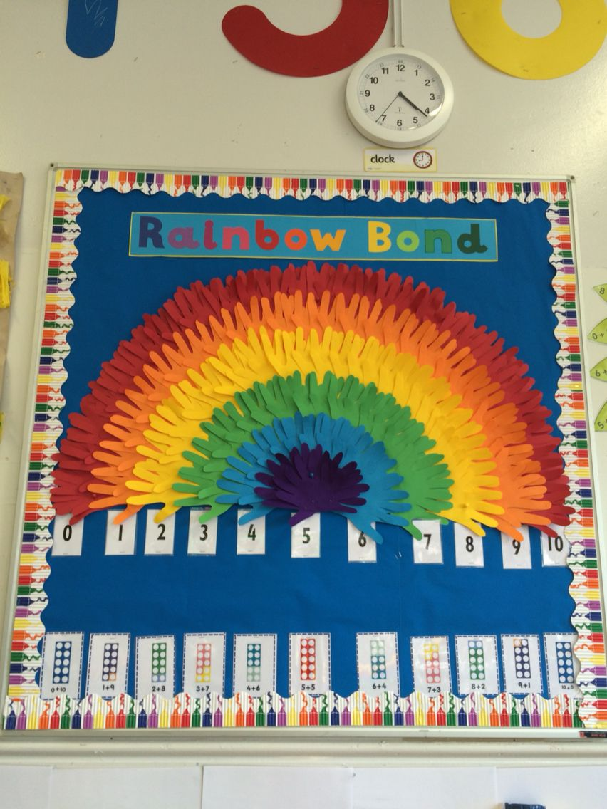 Maths- Number Bonds to 10 display Rainbow … | Pinteres…