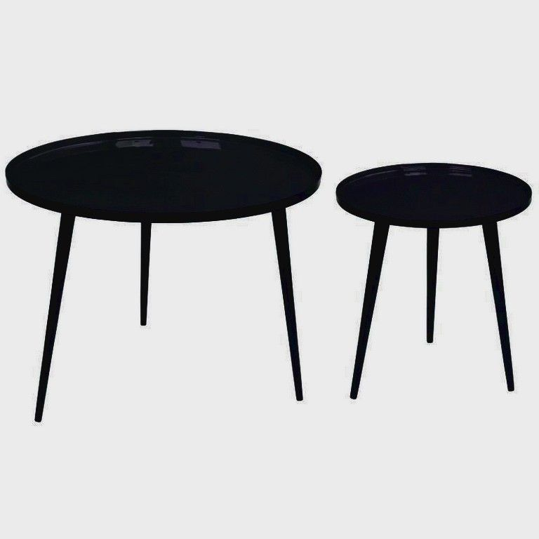 table basse ronde noire ikea
