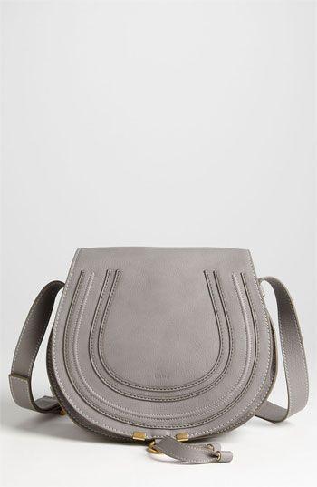 Sac bandoulière en cuir gris Chloé. Small grey crossbody bag Chloé  Marcie   Leather Crossbody Bag available at  Nordstrom 04e2ffe08c4