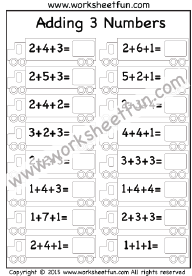 Addition Adding 3 Numbers Free Printable Worksheets Math Fact Worksheets Math Addition Worksheets Fun Math Worksheets