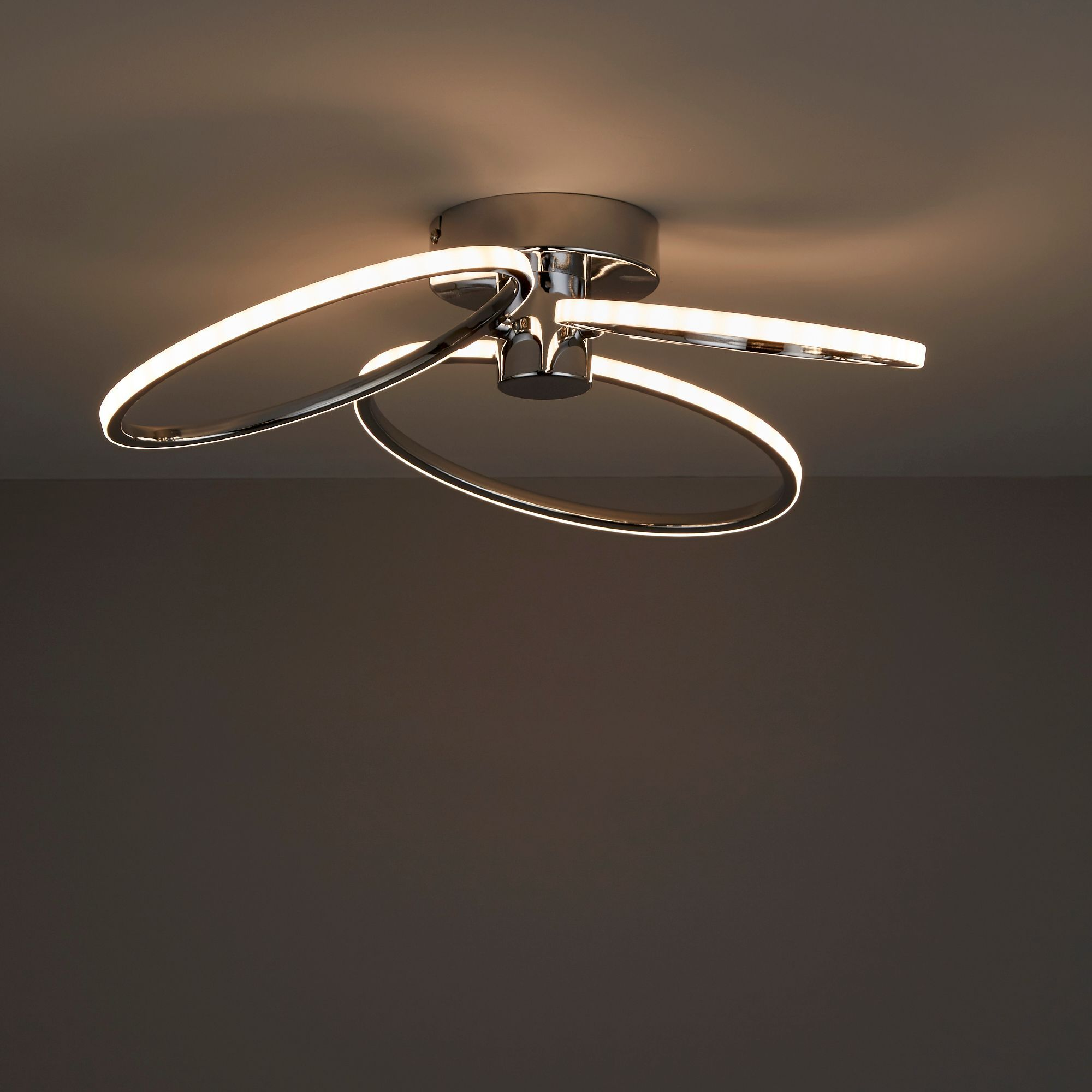 Jago Led Chrome Effect 3 Lamp Ceiling Light Departments