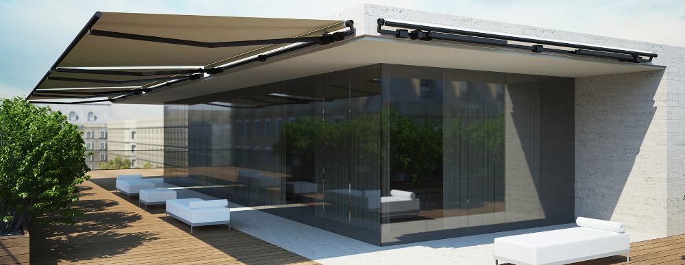 Corradi Retractable Arm Awnings Corradi Usa In 2020 Outdoor Living Space Outdoor Blinds Outdoor Spaces