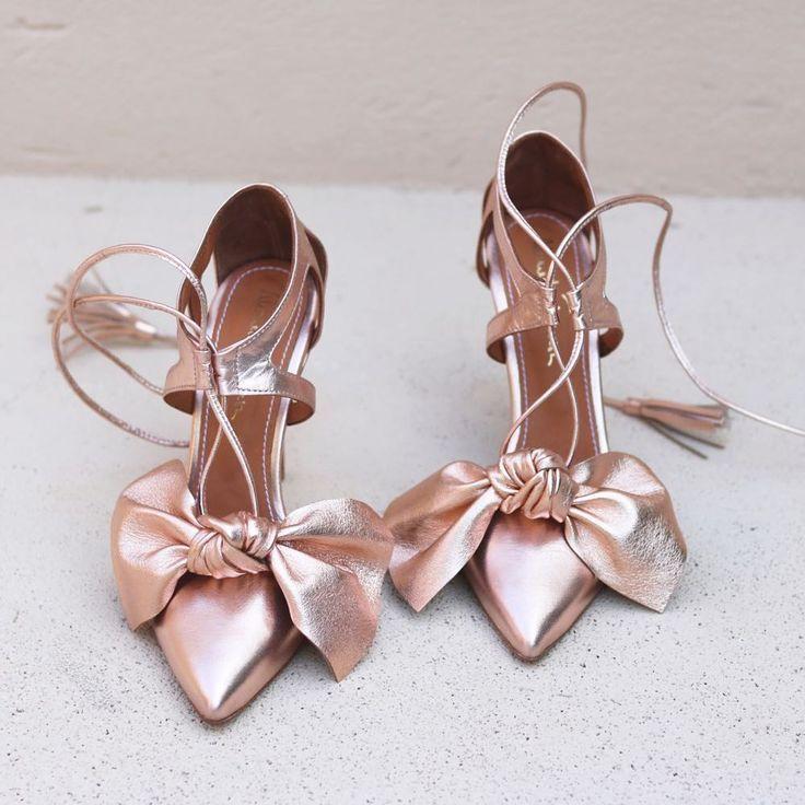 Almaturquesa Shoes In Rose Gold Brautschuhe Und Hochzeitsschhuhe