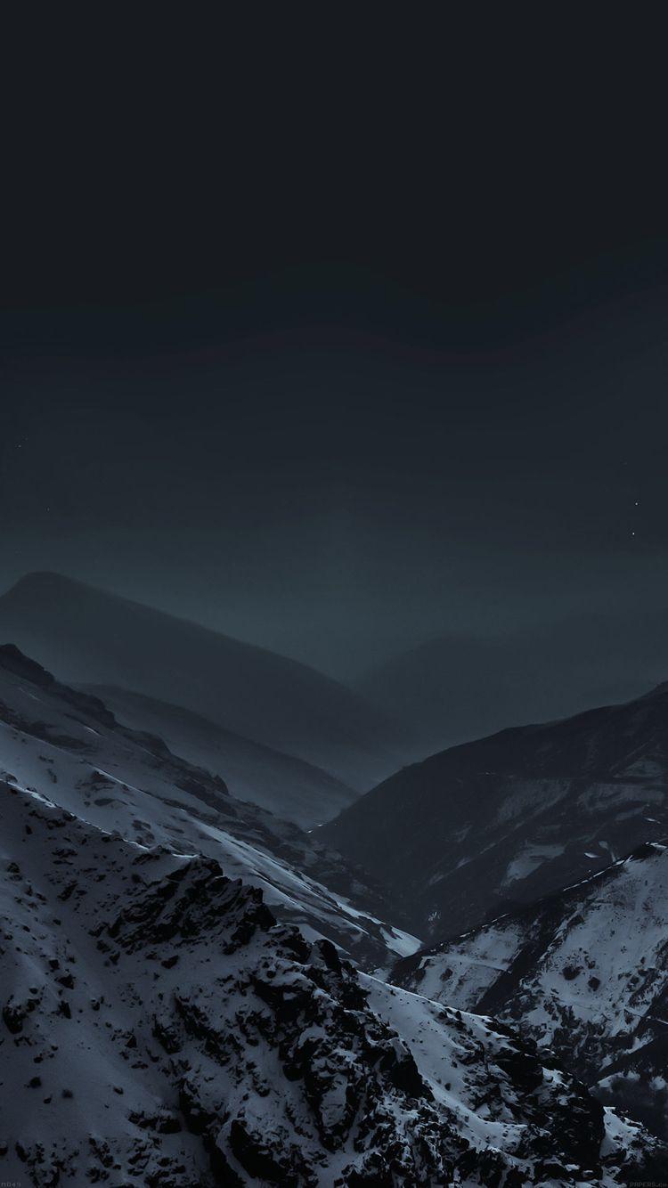 Dark Mountains Iphone Wallpaper Mountain Wallpaper Mountains At Night Nature Wallpaper Android mountains wallpapers 47