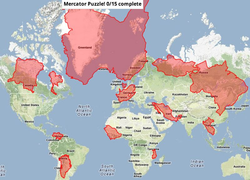 mercator projection advantages