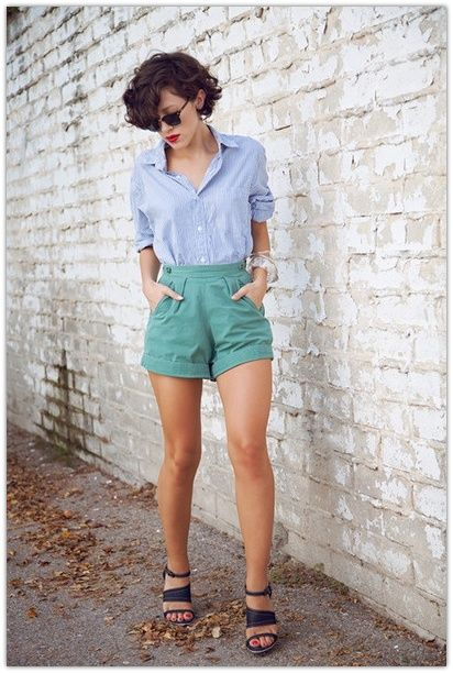 Mint and Blue Shortie Combo