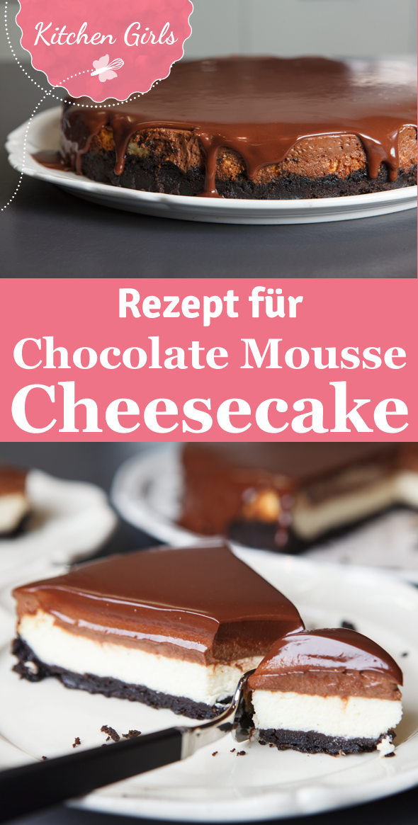 Chocolate Mousse Cheesecake mit Oreo Boden