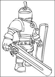 a free printable roblox knight coloring page with images