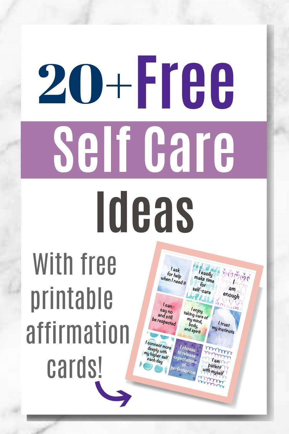 Free selfcare ideas for overwhelmed moms plus free