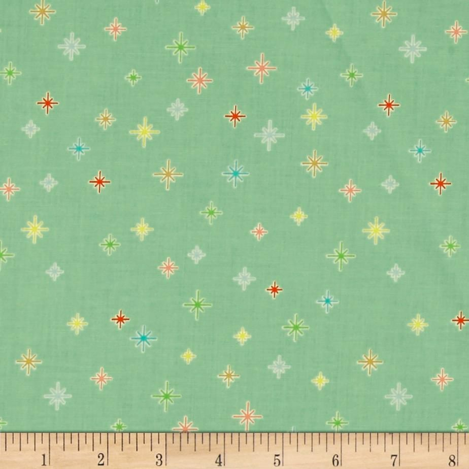 Riley Blake Cozy Christmas Sparkle Mint from @fabricdotcom  Designed Lori Holt for Riley Blake Designs, holiday inspired quilting cotton is perfect for quilting and craft projects as well as apparel and home décor accents. Colors include red, green, yellow, blue and pink.