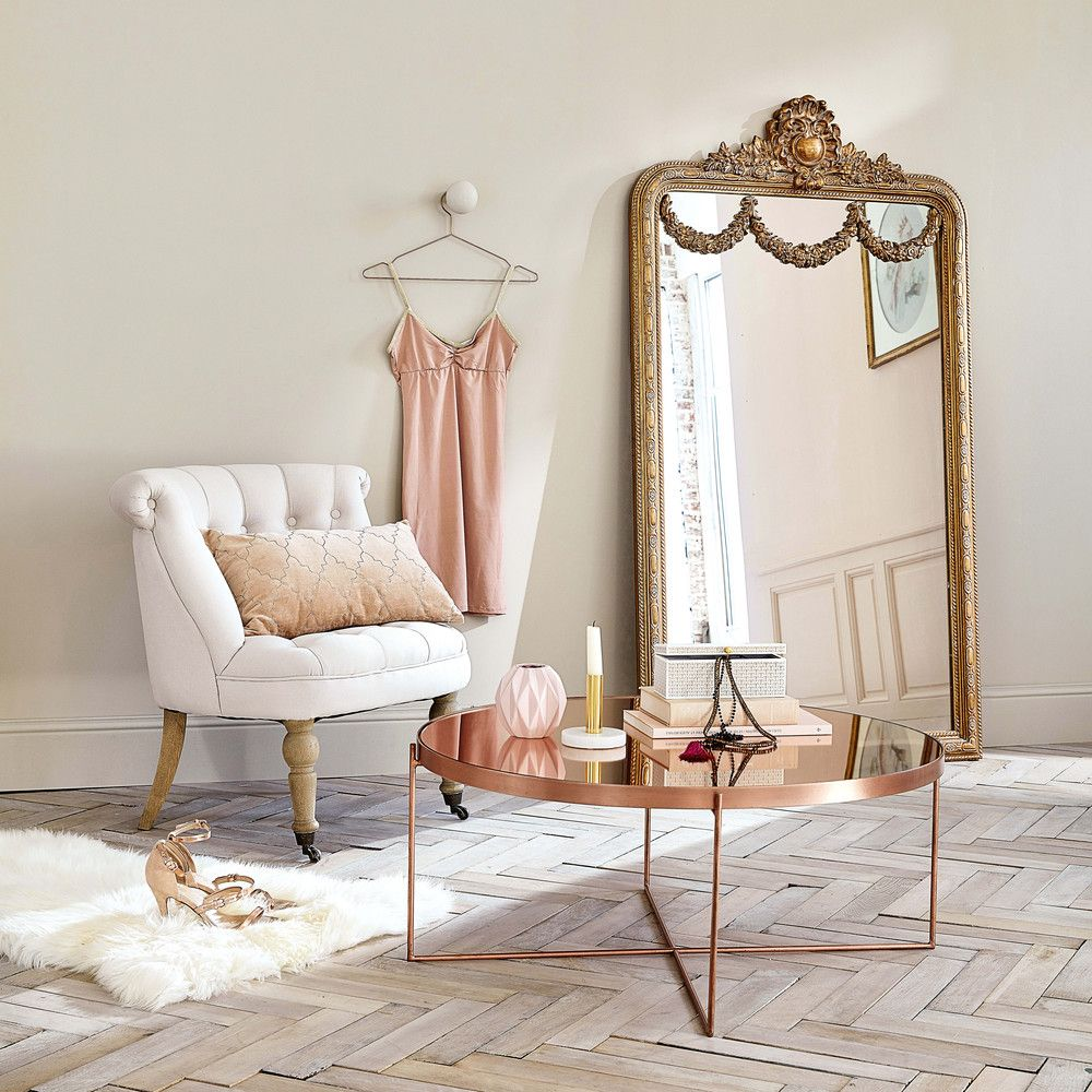 miroir moulures dor es 90x161cm pinterest tables basses avec miroir maison du monde et. Black Bedroom Furniture Sets. Home Design Ideas