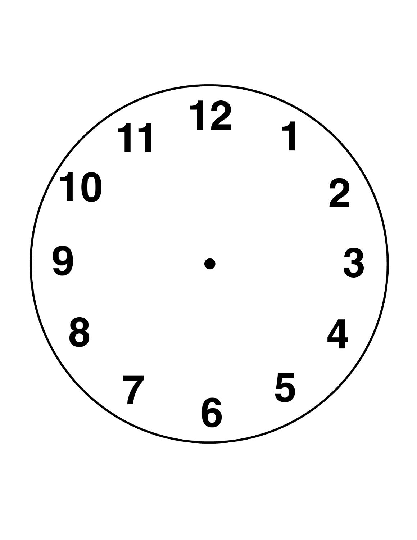 Clock Face Template Free