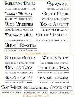 creepy halloween names