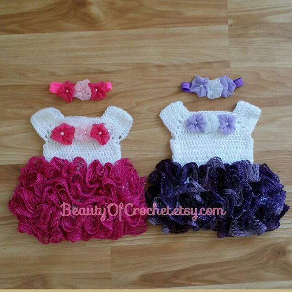 Newborn twins crochet outfit baby girl clothes by beautyofcrochet